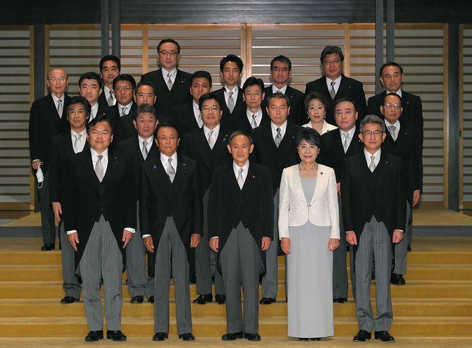 新政権/菅首相と閣僚ら