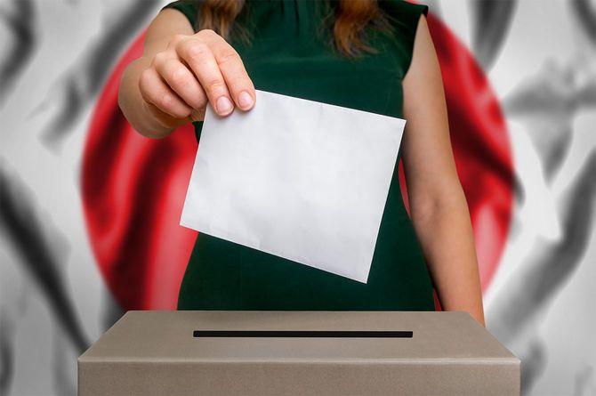 投票箱で投票