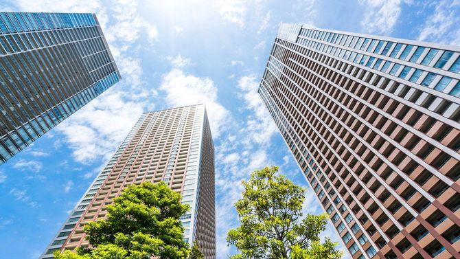 日本のタワーマンション、高層ビル