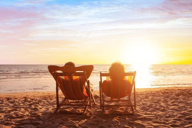 夏休み, ビーチ旅行, カップルのための休暇