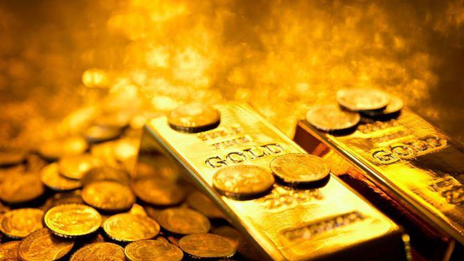 ゴールドのバー、硬貨