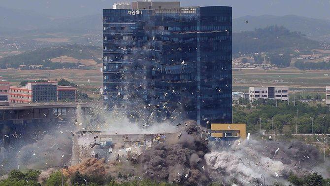 2020年6月16日午後に完全破壊された北南共同連絡事務所