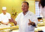 嶋宮氏は、寿司屋だけに「新鮮」といったキーワードを盛り込んで話を進める。