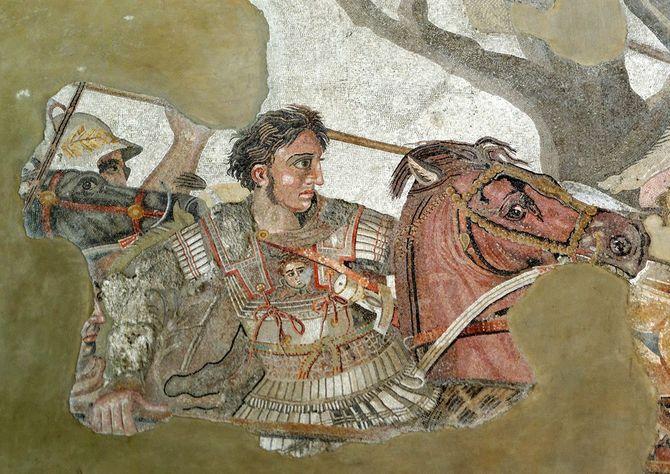 アレクサンドロス大王のモザイク