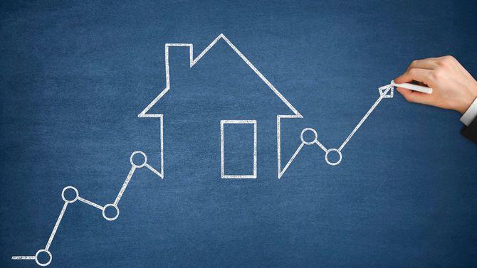 上昇価格矢印付き住宅ローンのグラフ