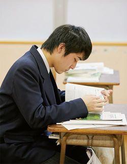 英語検定3級の試験への挑戦を機に、前向きに勉強するようになった2年生の山口珠侑。