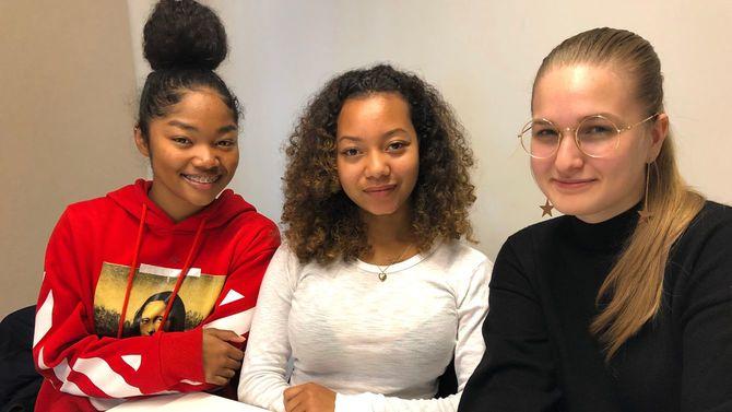 「NY Future Lab ミレニアル・Z世代研究所」のメンバー。(右から)メアリー、キサラ、ミクア