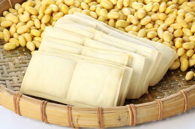 干し豆腐と大豆