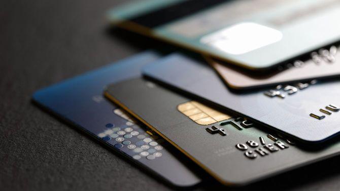 複数枚のクレジットカード