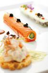 前菜3種盛り合わせの「ノルディックサンプラー」。新設された4800円のコースでも楽しめる。
