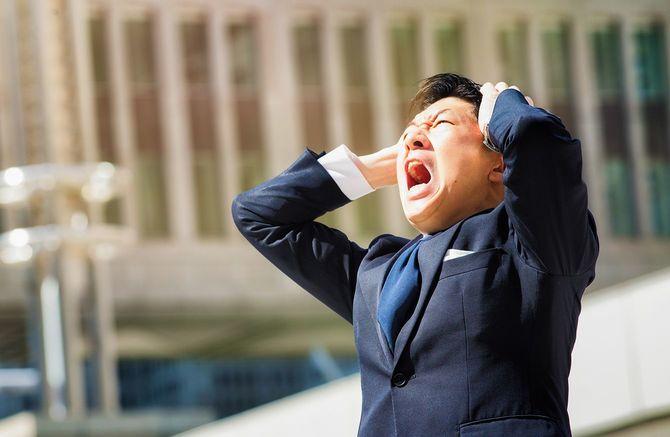 ストレスのたまった男性