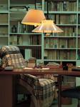 司馬遼太郎が執筆時にこもった書斎。生前の様子が、そのままに残っている。今でも、ここで新しい作品の構想が練られているかのような錯覚を覚える。