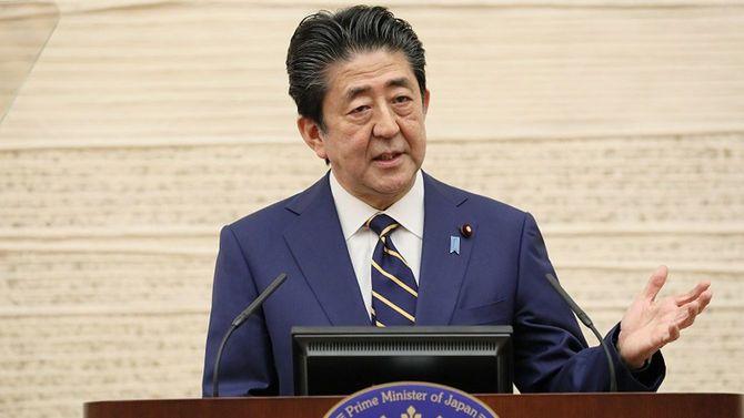 4月7日に開かれた安倍首相の記者会見。