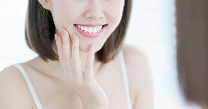美しい歯の笑顔