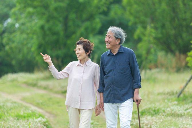 公園を歩いていたら老夫婦