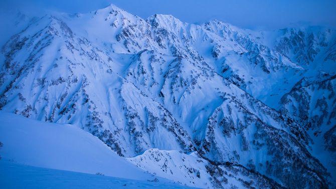 冬の白馬山