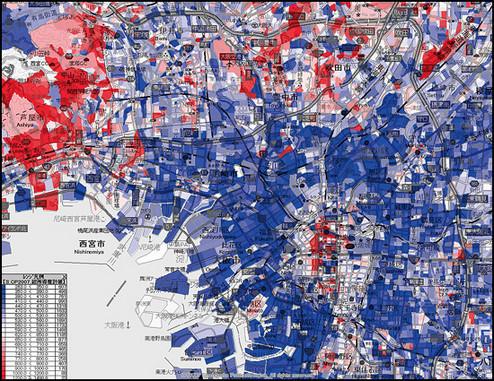 所得分布図【大阪】