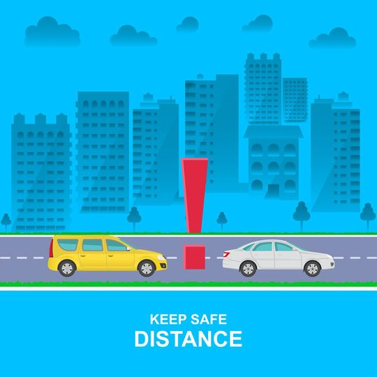 車間距離に注意するイメージ
