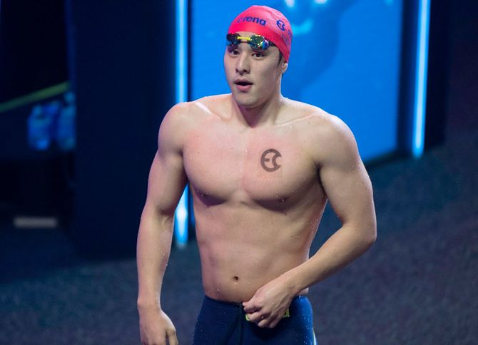 瀬戸大也選手。2019 国際水泳リーグ 決勝大会 男子 200m 個人メドレーにて