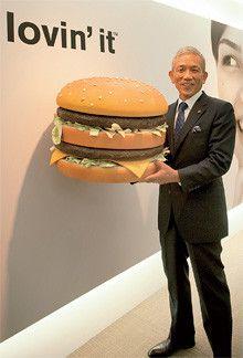 <strong>日本マクドナルド 原田泳幸社長</strong>●1948年、長崎県生まれ。東海大学工学部卒業後、日本NCRなどを経て、90年アップルコンピュータ・ジャパン入社。97年同社の日本法人社長に就任。2004年日本マクドナルドHDに副会長兼社長兼CEOとして入社。05年から同社の会長兼社長兼CEOに。