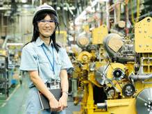 次世代エンジンの先行開発を手がける -コマツ開発本部 エンジン開発センタ 向島美香さん【前編】